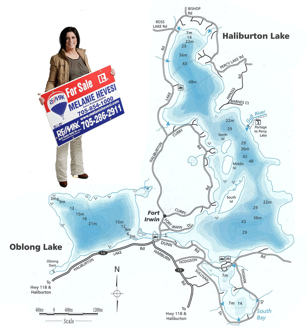 Haliburton Lake Map
